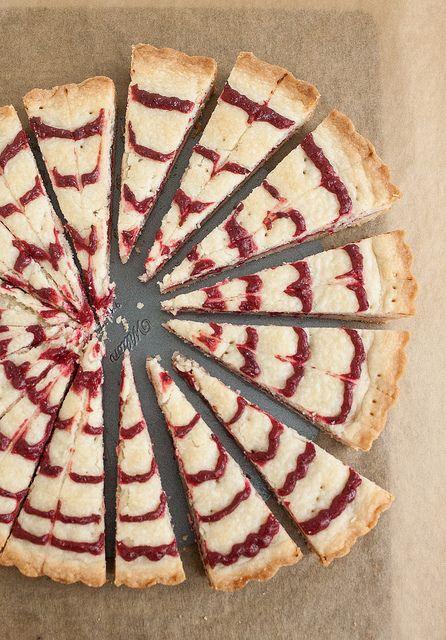 Cranberry Swirl Shortbread