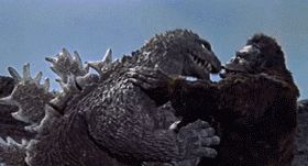 gifsploitation:  King Kong vs. Godzilla (1962)