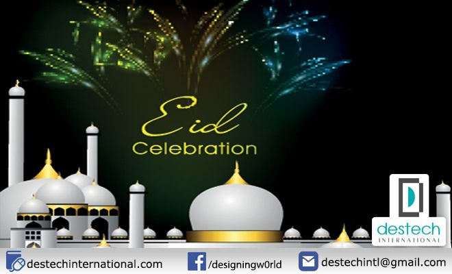 2015th Eid celebration card it was sent all clients of destech international with an email