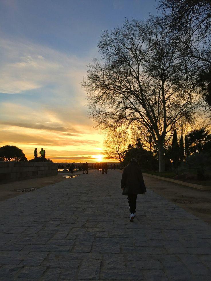 Templo de Debod. Madrid, Spain. #sunset #spain #madrid