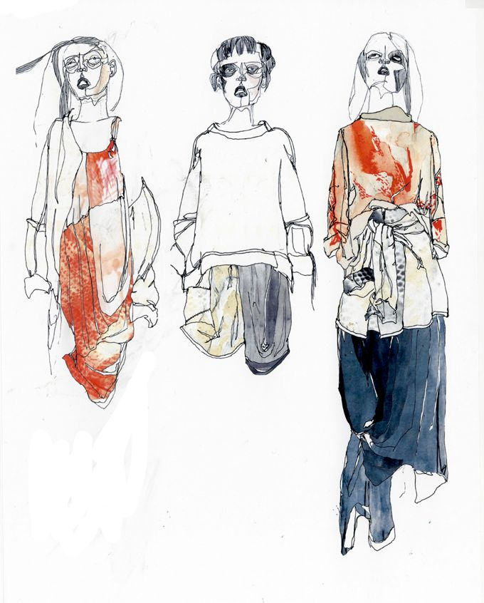 Style of drawing to adopt whilst out and about in Manchester. Thomas Brookes Fashion Designer #fashion #illustration