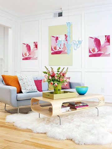 Colourful photos of flowers make for perfect wall art. #FADSSpringRestyle