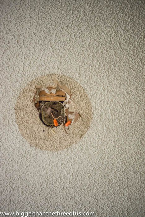 Ceiling Hole That Needs Patching And How To Patch It