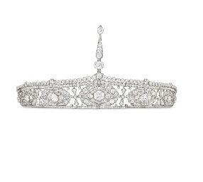 BELLE EPOQUE DIAMOND AIGRETTE BANDEAU, BY CARTIER, Christie's, 10/16/07, sold for $601,000