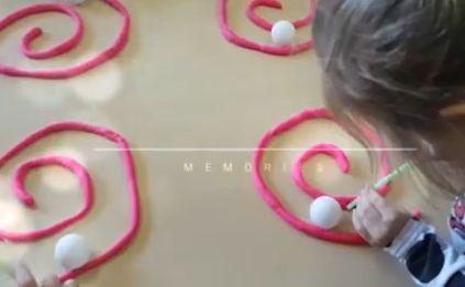 Espirales con plastilina y a ejercitar el soplo.