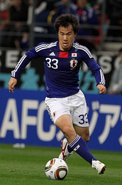 Shinji Okazaki Photos - Shinji Okazaki of Japan in action during the AFC Asian Cup Qatar 2011 Group A qualifier football match between Japan and Bahrain at Toyota Stadium on March 3, 2010 in Toyota, Japan. - Japan v Bahrain - Asian Cup Qualifier