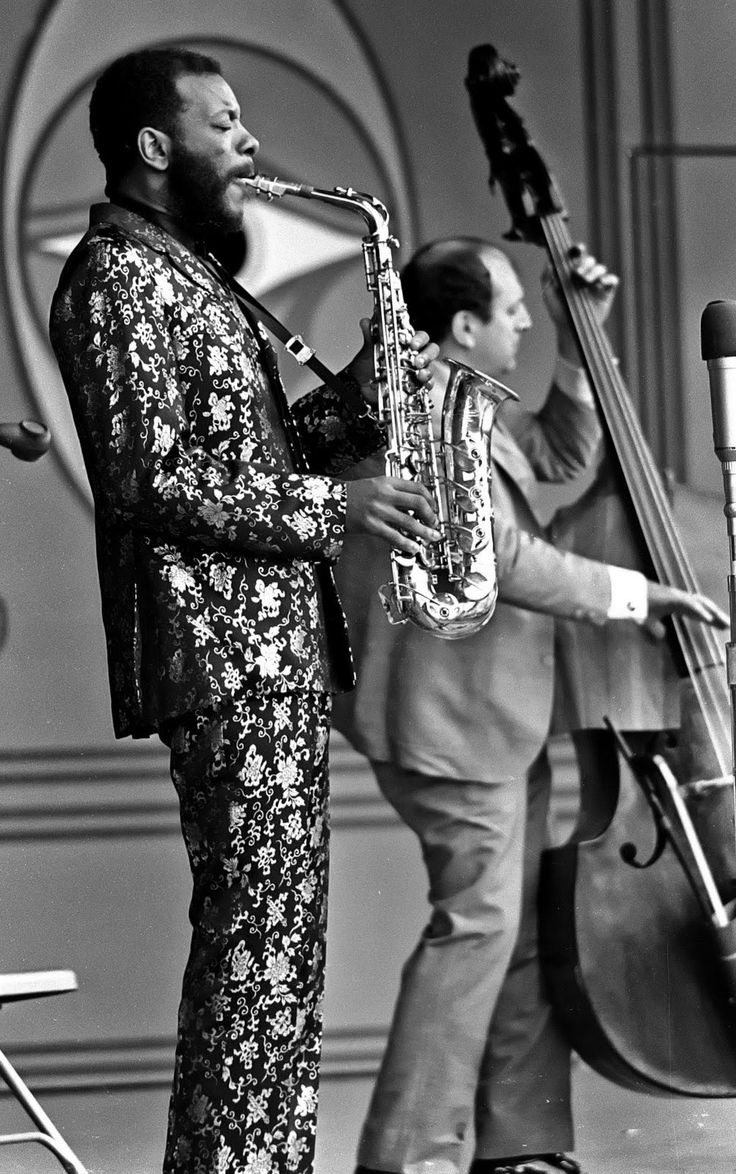 Ornette Coleman, African American saxophonist, violinist, trumpeter and composer, and a major innovator of the 1960s free jazz movement. photographed at the Monterey Jazz Festival (1967)