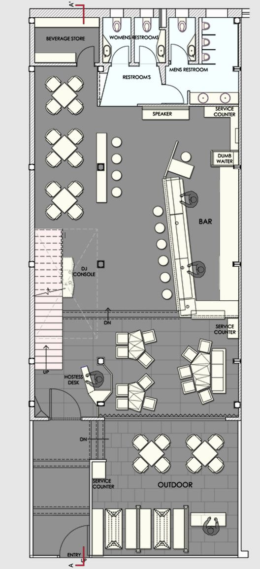 Auriga Restaurant,Ground Floor Plan