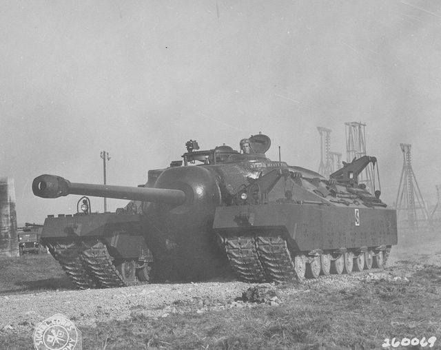 The T28/T95 was designed for the United States Army during World War II as a counter to the German heavy tanks.