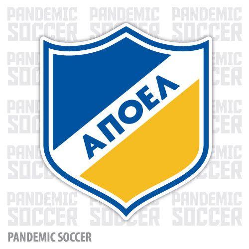 APOEL FC Nicosia Cyprus Color Vinyl Sticker Decal