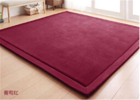 Red Beige Woven Rug Modern Forest Design Living Room Carpet Thick Soft Large Mat