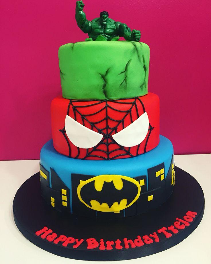 Avengers birthday cake.