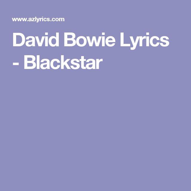 David Bowie Lyrics - Blackstar