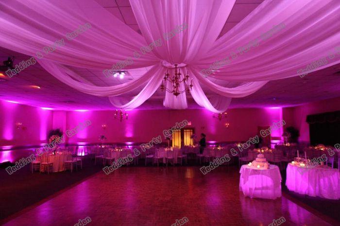 10pcs/lot White Luxury wedding ceiling drapery 10mx0.7m Wedding Ceiling Draper Canopy Drapery