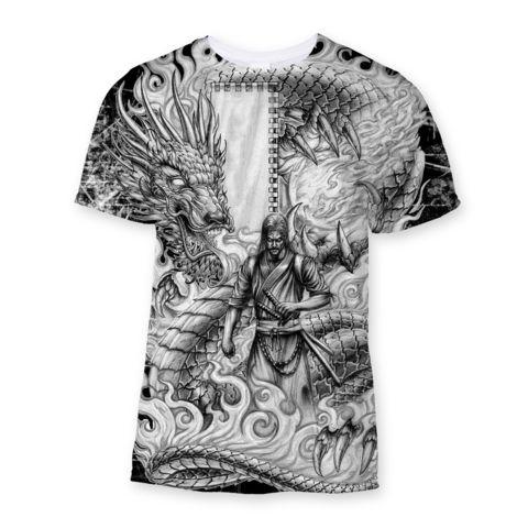 Dragon Samurai Sublimation T-Shirt