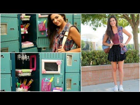 Back to School: Locker Organization + DIY Decorations! - YouTube