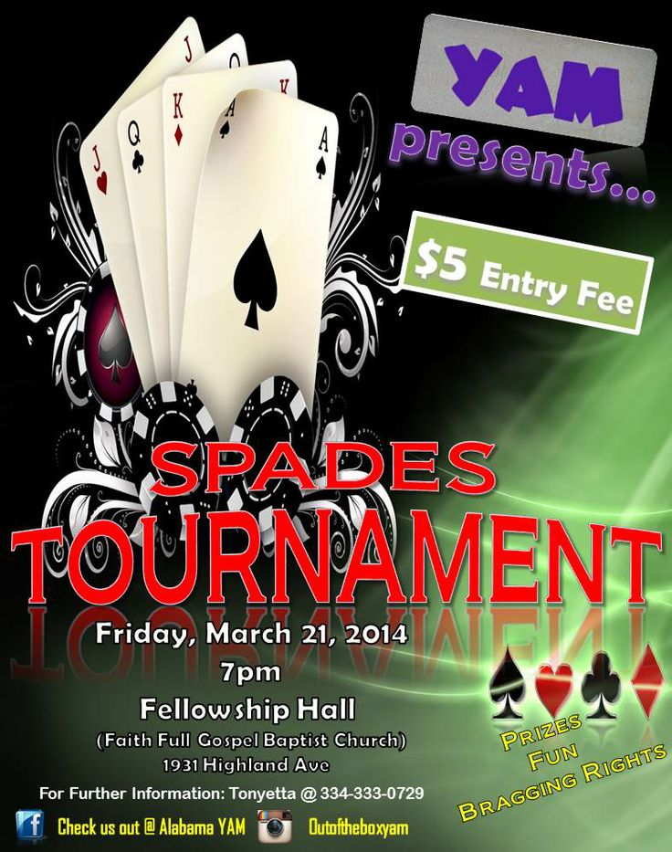yam spades tournament flyer