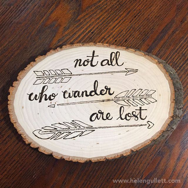 Wood-Burning with Stencil, Stamp and Hand-lettering | Living My Given Life