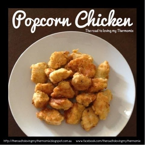 {Popcorn Chicken} 2 eggs, beaten into a bowl 2 large chicken breasts, chopped…