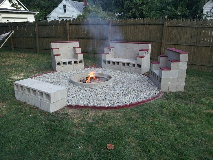 Fire Brick Cement : De bedste idéer inden for concrete fire pits på