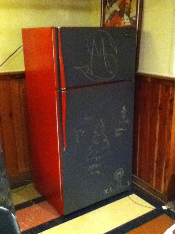 1000 ideas about chalkboard paint refrigerator on for Chalkboard appliance paint