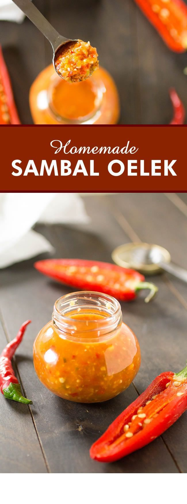 Sambal Oelek - A recipe for homemade Sambal Oelek, the classic chili paste used for cooking, made with a variety of ground chili peppers, vinegar and salt.