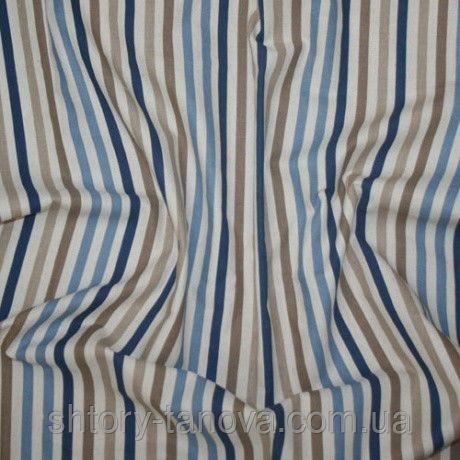 Жаклин полоса узкая бежевый/синий/голубой, фото 1