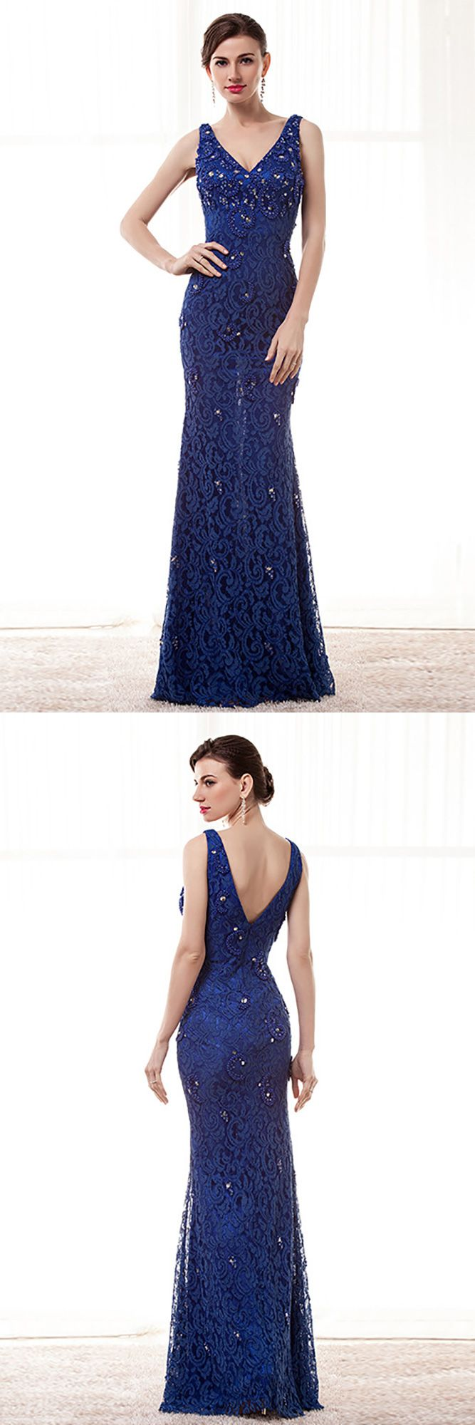 Only $168.99, Evening Dresses Petite Fitted Dark Blue Lace Formal Dress With Crystal Beading #H76051 at #GemGrace. View more special Evening Dresses now? GemGrace is a solution for those who want to buy delicate gowns with affordable prices, a solution for those who have unique ideas about their gowns. 2018 new arrivals, shop now to get $10 off!