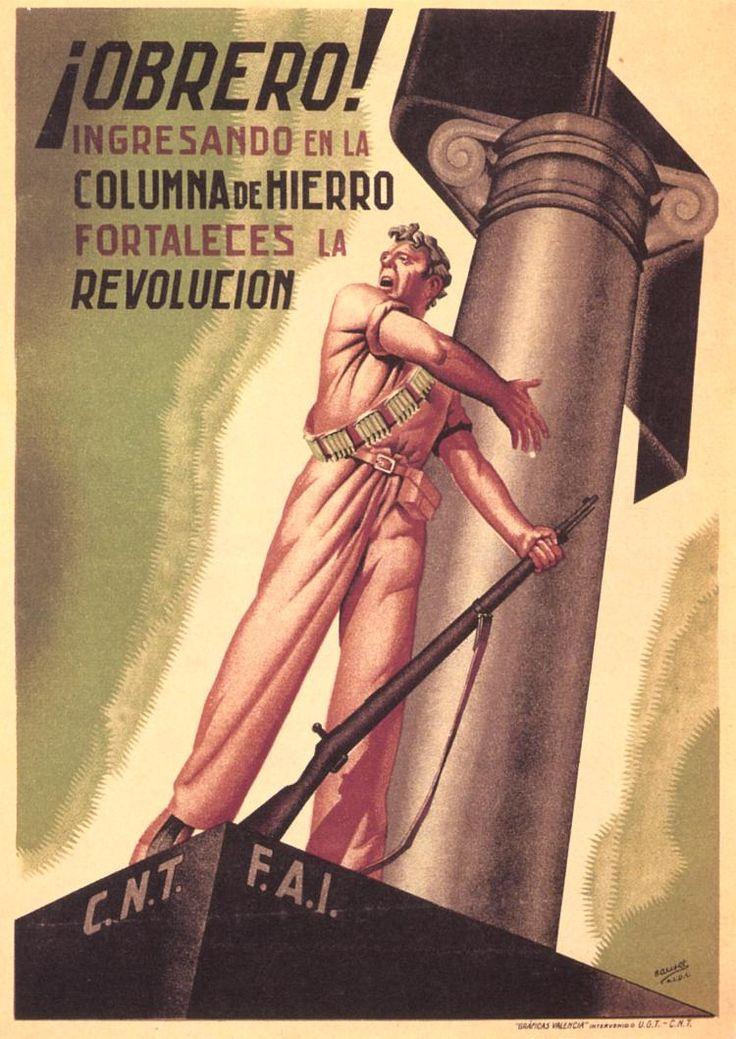 ¡Obrero! (Workers) by Bauset, 1936. Contributor: Confederación Nacional del Trabajo-Federación Anarquista Ibérica.