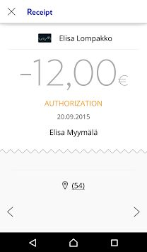 Elisa Wallet - Renewal: Receipt (Android)
