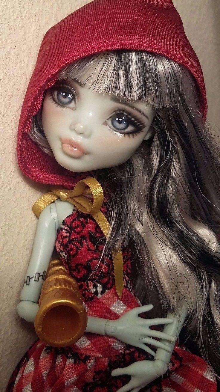 New OOAK Frankie Stein Monster High Custom Repaint Doll by Astral   eBay