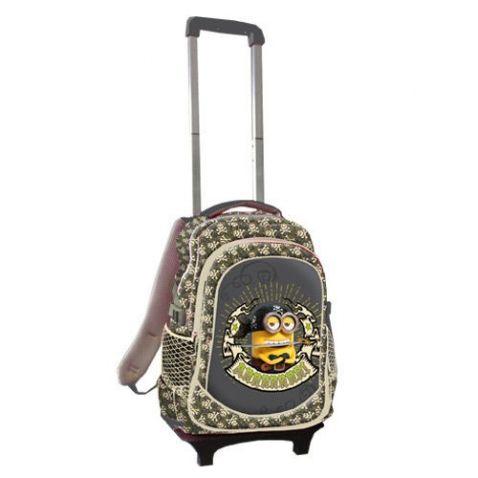Mimoni - Školní batoh na kolečkách