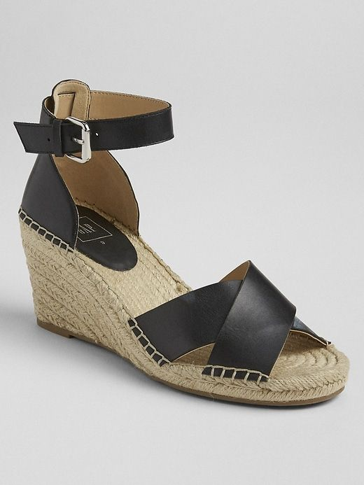 a93878a90af Crossover Strap Espadrille Wedges in 2019 | Products | Espadrilles ...