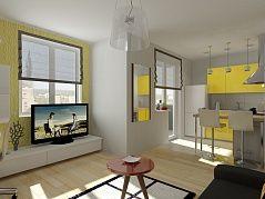 1-но комнатная квартира-студия (29.09 m²)