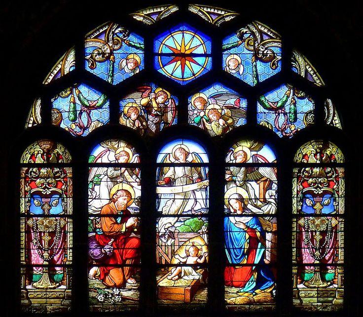 La nativité Paris Ier Eglise Saint-Eustache Transept sud vitrail  Paris