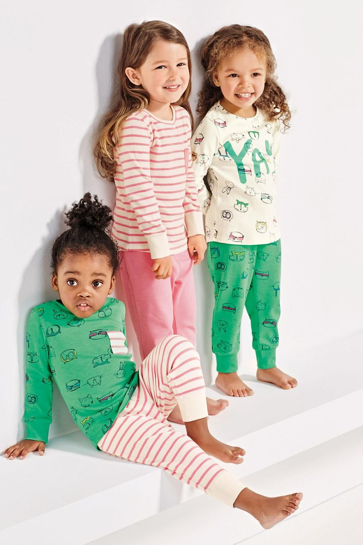 Buy Three Pack Green Yay Snuggle Pyjamas (12mths-8yrs) from the Next UK online shop