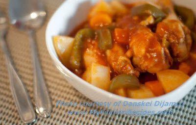 Afritada Chicken Recipe | MyFilipinoRecipes