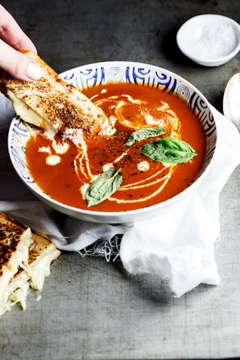 Roast Tomato Soup with the ultimate Toasted Cheese sandwich