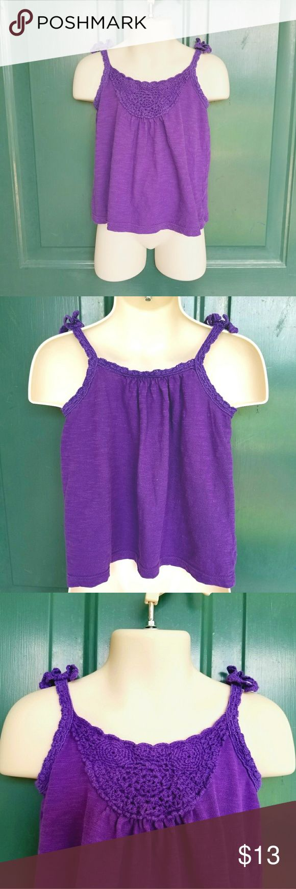 Gap Baby 2T Crocheted Purple Tank Top Cute!!! Comes from a smoke free pet free home. No stains or rips. Please ask any questions if you need to and offers are always welcome!!! GAP Shirts & Tops Tank Tops