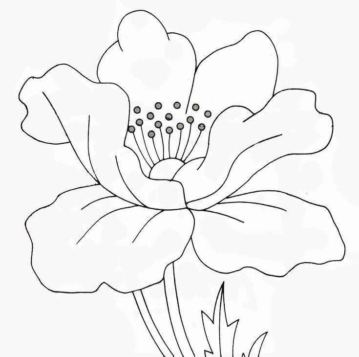 цветок мак картинка распечатать шаблон датских сказках андерсена