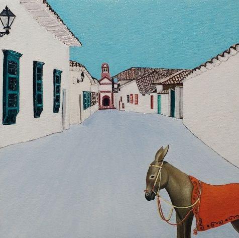 """Fragmento de """"El pueblo y el guayacán""""  Santa Fe de Antioquia"""