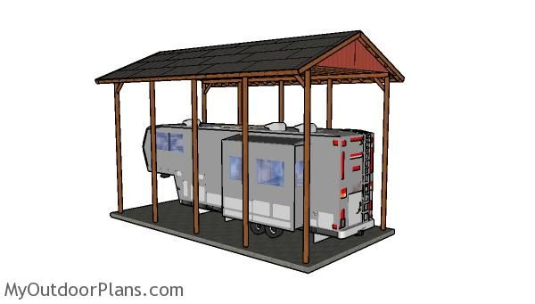 Best 25 carport plans ideas on pinterest building a for Motorhome carport plans