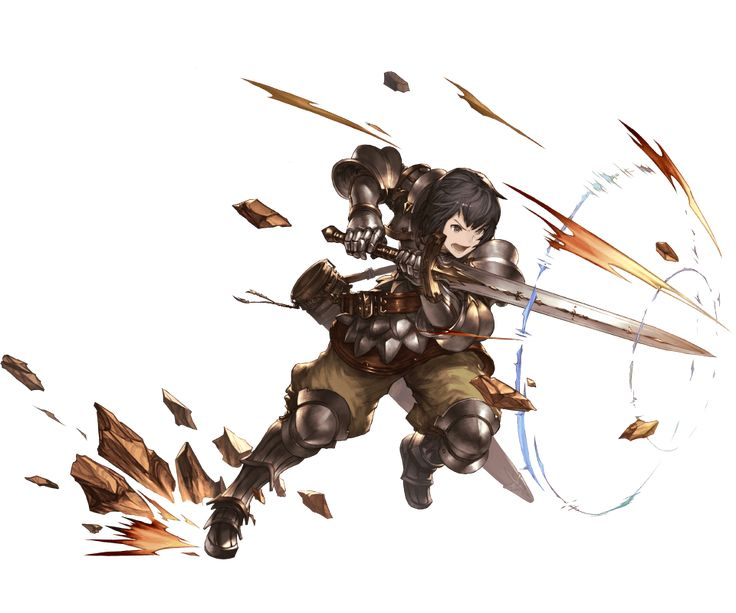 1boy armor armored_boots belt black_eyes black_hair boots gloves granblue_fantasy juri_(granblue_fantasy) minaba_hideo official_art open_mouth rock solo sword teeth weapon