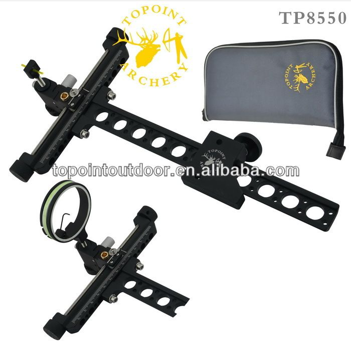 Recurve Bow Sights,Target Bow Sights,TP8550,Micro adjust,detachable bracket,with pin guard for bow hunting $30~$40