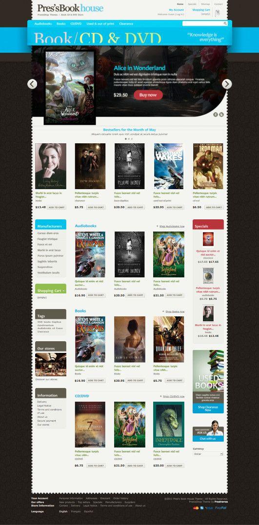 Prestheme Line PrestaShop Theme for Bookstore, Stationery, CD & DVD Stores