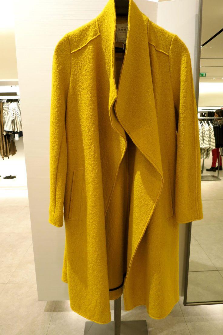Zara Trafaluc yellow coat