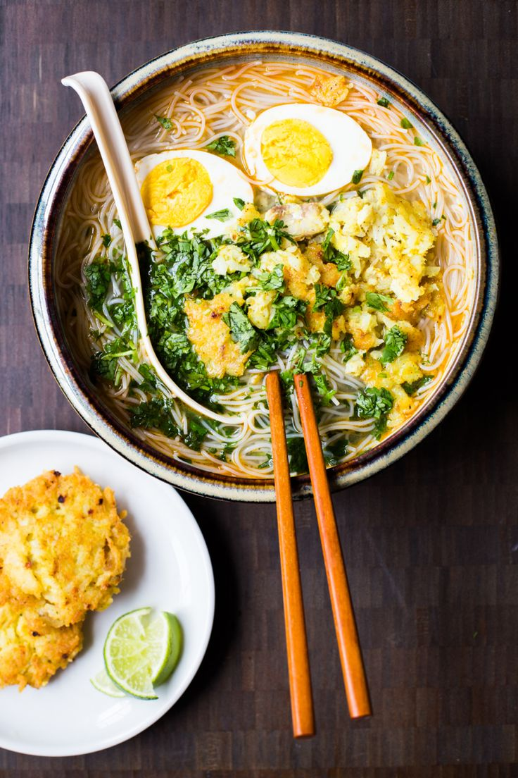Mohinga is a Burmese rice noodle soup not unlike many other rice noodles soups found in Southeast Asia, like Pho and Laksa. Mohinga is unique in that it uses a catfish soup stock and it's typ…