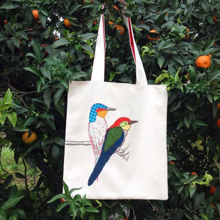 #bebeklikedi #kuş #çanta #bez #elyapımı #kişiyeözel #hediye #nakış #totebag #bag #birds #embroidery #handmade