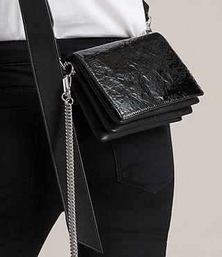 Women's Zep Shoulder Bag (SHINY BLACK) - Image 2