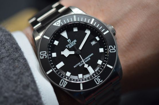 I'm not big into dive watches, but this is an amazing and affordable watch.  The Tudor Pelagos: A Titanium Dive Watch From The Rolex Family / 42mm